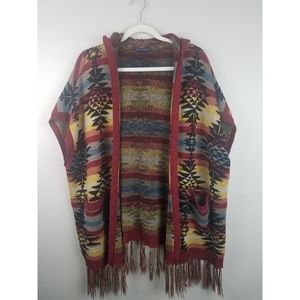 American Eagle Outfitters Southwest Sweater Poncho